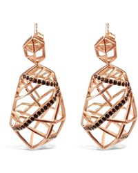 Bellus Domina Gold Plated Quartz Earrings - Metallic