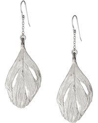 Chupi - Maxi Swan Feather Earrings Silver - Lyst