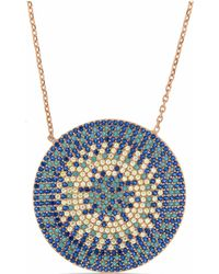 Cosanuova - Flat Turquoise Disc Necklace - Lyst