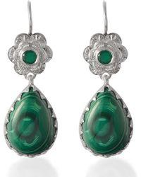 Emma Chapman Jewels - Gypsy Rose Malachite Earrings - Lyst