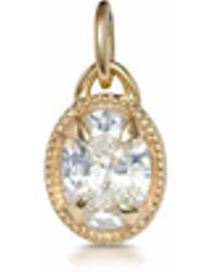One and One Studio - Sterling Silver Oval Jewel With Milgrain Edge Detail & Gold Plating - Lyst