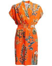 TOMCSANYI Heviz Draped Short Dress - Red