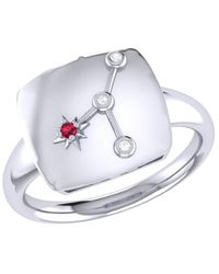 LMJ Cancer Crab Constellation Signet Ring In Sterling Silver - Metallic