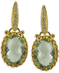 Vintouch Italy - Sardinia Peridot Treccia Earrings - Lyst