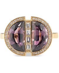 Ri Noor - Half Moon Spinel Ruby & Diamond Ring - Lyst