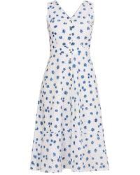 Em & Shi Daisy Day Button Down Dress - White