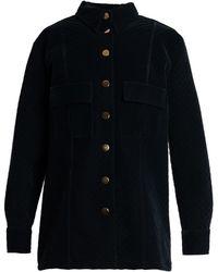 TOMCSANYI - Skala Velvet Shirt Jacket - Lyst