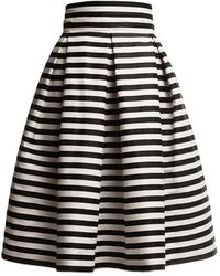 Rumour London Amalfi Striped Midi Skirt Black & White