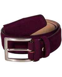 40 Colori - Burgundy Trento Leather Belt - Lyst
