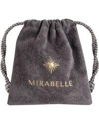Mirabelle Freeform Pebble Aquamarine Pendant - Blue