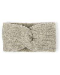 Alma Knitwear Kirke Alpaca Silk Earwarmer Grey