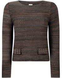 STUDIO MYR Sweater In Audrey Hepburn Style Tweed-raven - Grey
