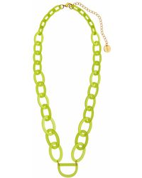 RASSIN & SHEN - Original D Eyewear Necklace N°3 Lime Punch Glasses Chain - Lyst