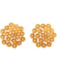 Carousel Jewels - Gold Cluster Flower Studs - Lyst