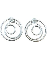 """Elena Jewelry Concepts """"three Faces Of The Moon"""" Earrings In Silver - Metallic"""