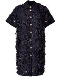 Acephala - Fringe Mini Dress - Lyst