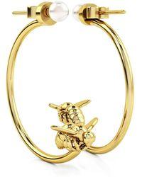 1986 - Bee 93° Moon Earrings Gold - Lyst