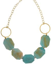 Magpie Rose Green Amazonite Statement Necklace