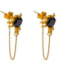 SoftDream by LauraGalasso Black Spider Earrings - Multicolour