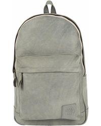 MAHI Leather Classic Backpack Rucksack In Vintage Grey