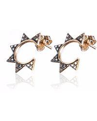 Sadekar Jewellery - Gear Earring Rose Gold - Lyst