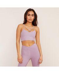 Wolven Lavender Crisscross Four Way Top - Purple