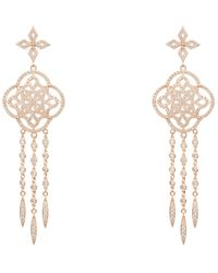 LÁTELITA London - Celtic Knot Dream Catcher Statement Earring Rose Gold - Lyst