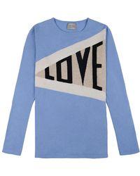 Orwell + Austen Cashmere - Love Sweater In Blue - Lyst