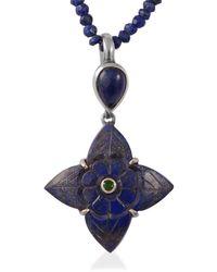 Emma Chapman Jewels Toyah Lapis Lazuli Tsavorite Pendant - Blue