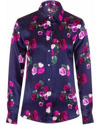 Sophie Cameron Davies - Rose Silk Shirt - Lyst