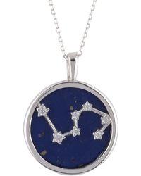 LÁTELITA London - Zodiac Lapis Lazuli Gemstone Star Constellation Pendant Necklace Silver Leo - Lyst