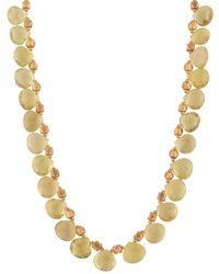 Kastur Jewels Lemon Topaz Necklace - Metallic