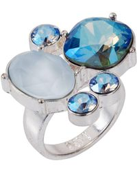 Nadia Minkoff - The Kate Cocktail Ring Blue Shimmer - Lyst