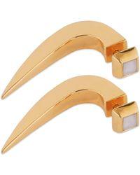 Cristina Cipolli Jewellery Amazon Earrings Gold & White - Metallic