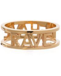 Rachel Jackson Rave Behave Reversible Ring Gold - Metallic