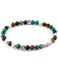 Anchor & Crew Multicoloured Multi-gem Atrato Silver & Stone Bracelet