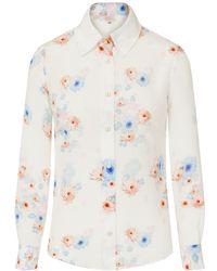 Sophie Cameron Davies Beach Flower Silk Shirt - White