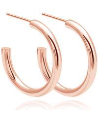 Astrid & Miyu - Basic Large Hoop Earrings In Rose Gold - Lyst