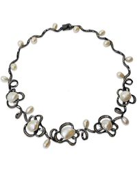 Bellus Domina Freshwater Pearl Necklace - Grey
