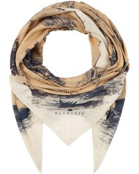 Klements Large Scarf In Doomed Voyage Print Silk Chiffon - Multicolor
