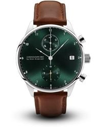 About Vintage - 1815 Chronograph Steel & Green Sunray Special Edition - Lyst