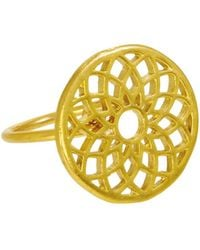 Ottoman Hands - Gold Crown Chakra Ring - Lyst