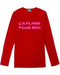 Orwell + Austen Cashmere - Ca Plane Pour Moi Sweater Red & Pink - Lyst