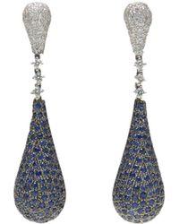 Ri Noor - Blue Sapphire & Diamond Earrings - Lyst