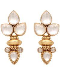 Carousel Jewels | Elegant Multi Crystal Gold Earrings | Lyst
