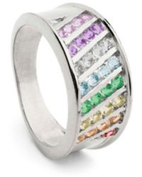 Coco & Kinney Rainbow Molly Mae In Silver - Multicolour
