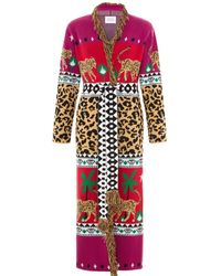 Hayley Menzies Leopardess Duster Magenta Red