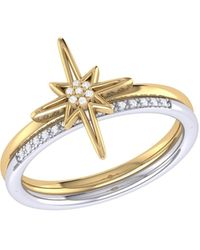 LMJ North Star Detachable Ring (two-tone) In 14 Kt Gold Vermeil On Sterling Silver - Metallic