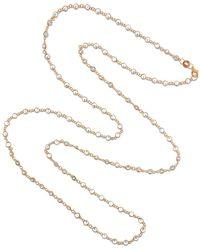 Cosanuova Rose Sm Swarovski Long Necklace - Metallic