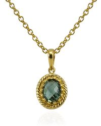 Vintouch Italy - Luccichio Green Agate Pendant Necklace - Lyst